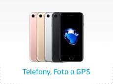 Telefony, foto a GPS