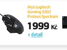 Myš Logitech Gaming G502 Proteus Spectrum černá