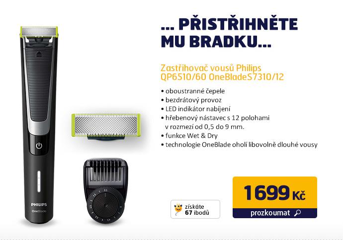 Zastřihovač vousů Philips QP6510/60 OneBlade