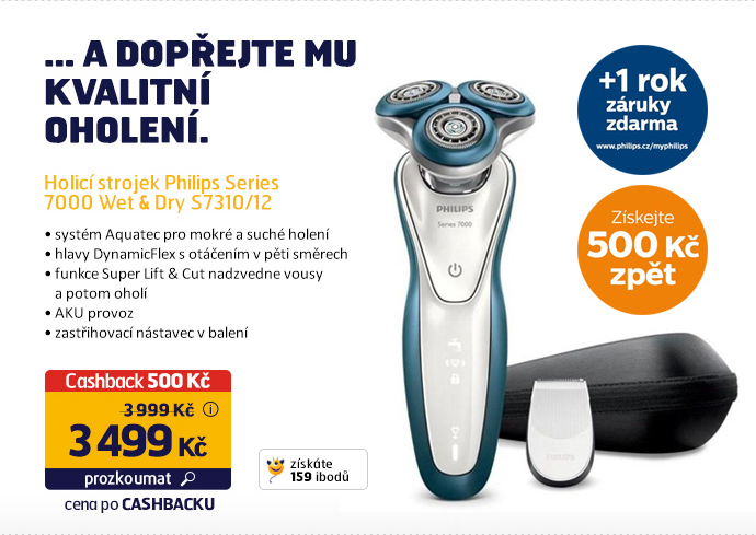 Holicí strojek Philips Series 7000 Wet & Dry S7310/12