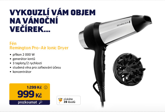 Fén Remington Pro-Air Ionic Dryer D4200