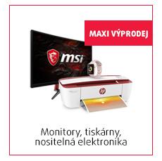 monitory, tiskárny, nositelná elektronika