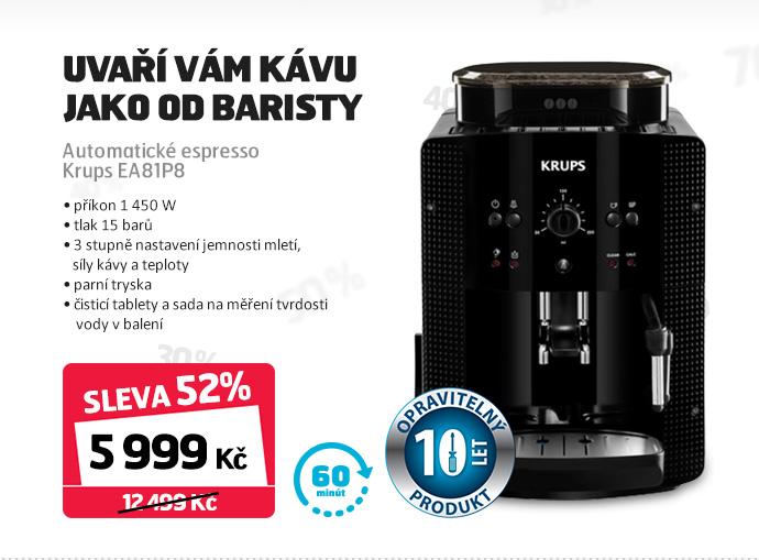 Automatické espresso Krups EA81P8