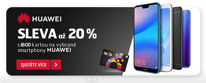 HUAWEI sleva až 20 % s iBOD kartou