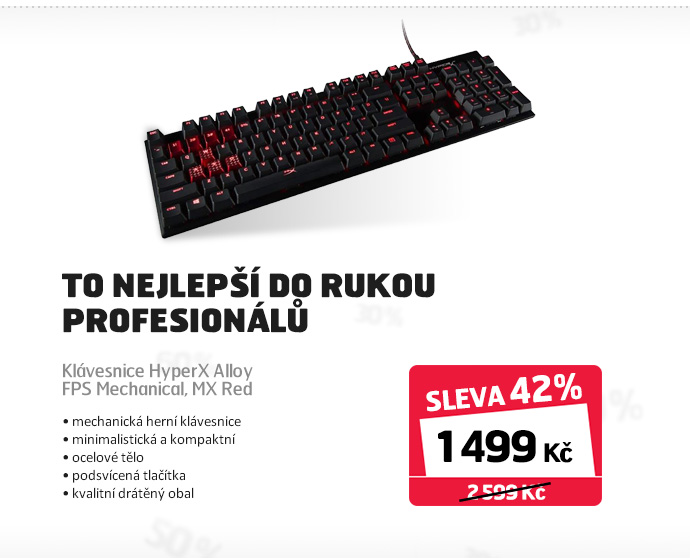 Klávesnice HyperX Alloy FPS Mechanical, MX Red