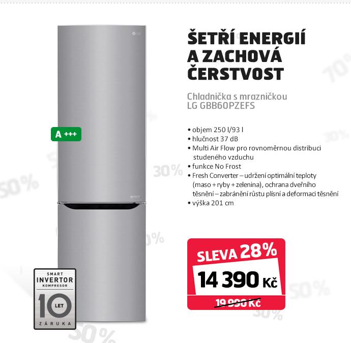 Chladnička s mrazničkou LG GBB60PZEFS