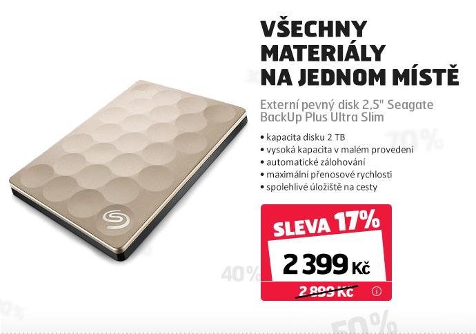 """Externí pevný disk 2,5"""" Seagate BackUp Plus Ultra Slim"""