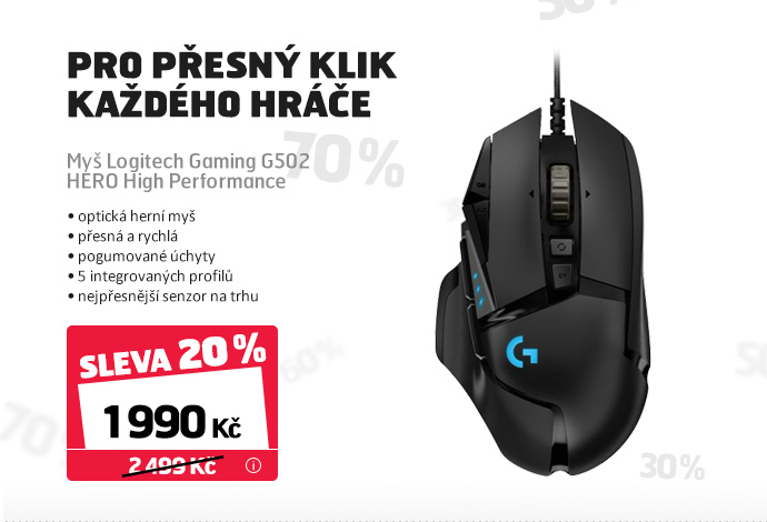 Myš Logitech Gaming G502 HERO High Performance