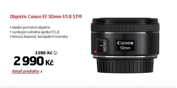 Objektiv Canon EF 50mm f/1.8 STM