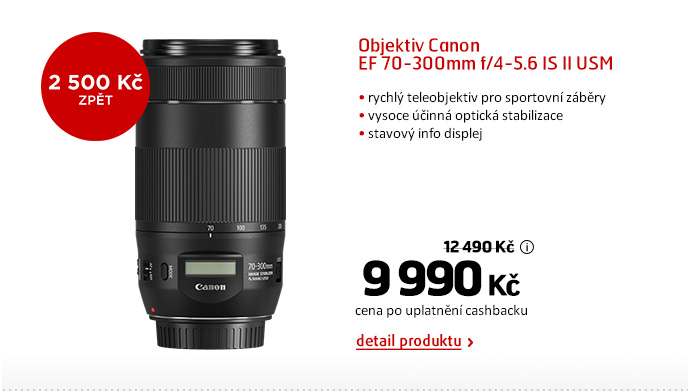 Objektiv Canon EF 70-300mm f/4-5.6 IS II USM