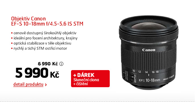 Objektiv Canon EF-S 10-18mm f/4.5-5,6 IS STM