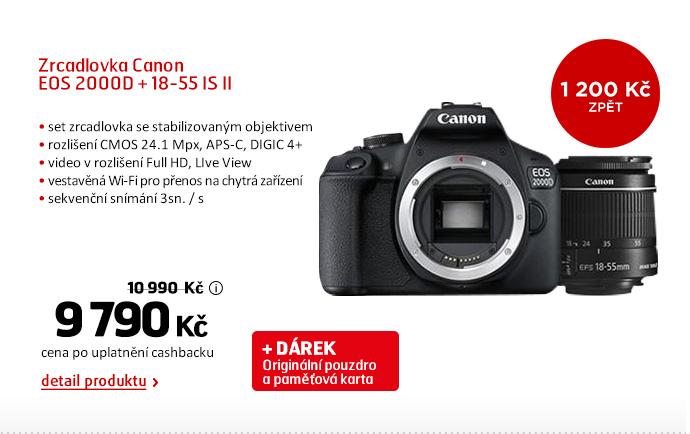 Zrcadlovka Canon EOS 2000D + 18-55 IS II