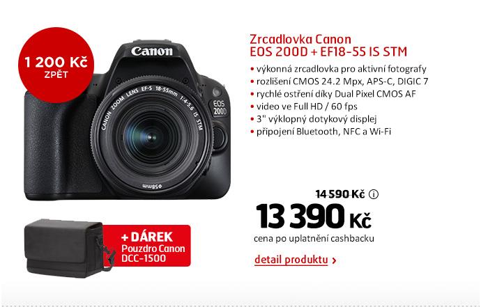 Zrcadlovka Canon EOS 200D + EF18-55 IS STM