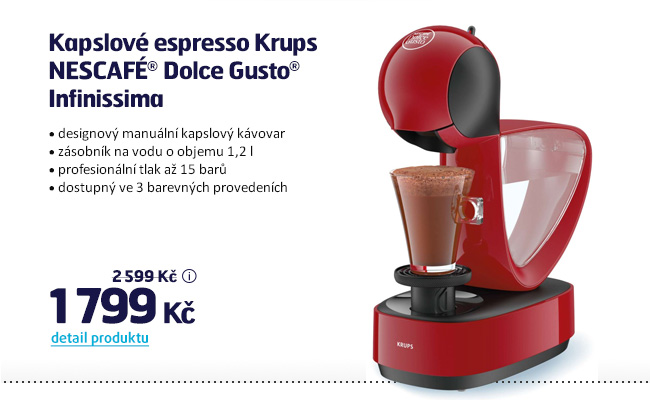 Kapslové espresso Krups NESCAFÉ Dolce Gusto Infinissima