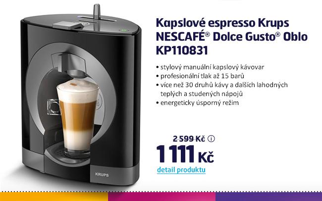 Kapslové espresso Krups NESCAFÉ Dolce Gusto Oblo KP110831