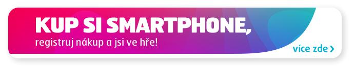 KUP SI SMARTPHONE, registruj nákup a jsi ve hřevíce zde