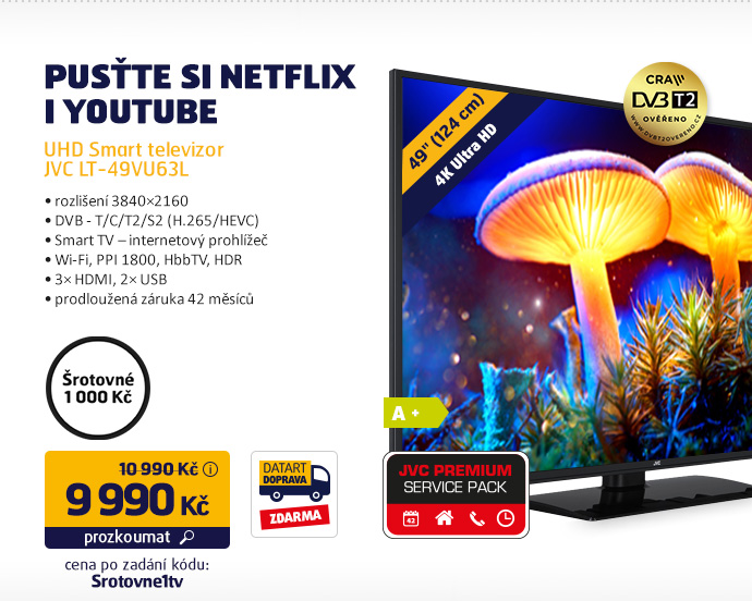 UHD Smart televizor JVC LT-49VU63L
