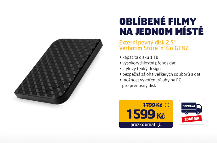 "Externí pevný disk 2,5"" Verbatim Store 'n' Go GEN2"