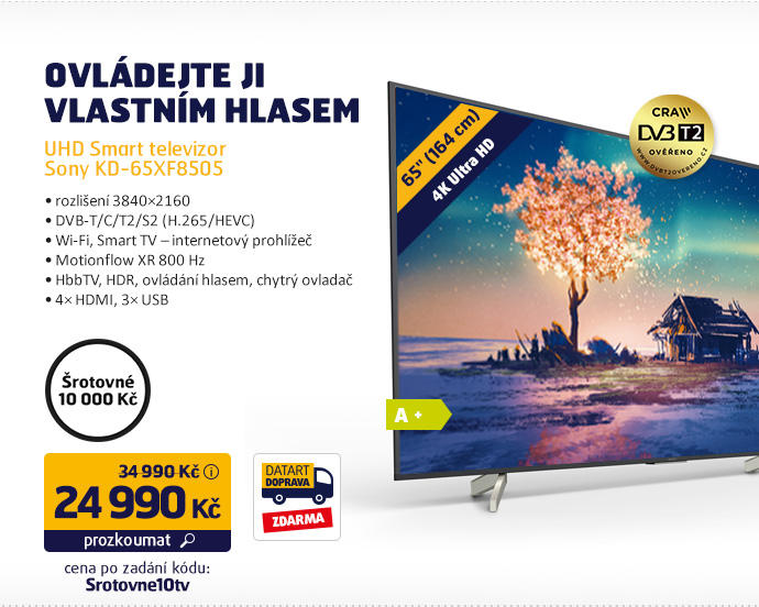 UHD Smart televizor Sony KD-65XF8505