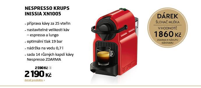 Kapslové espresso Krups Nespresso Inissia XN1005