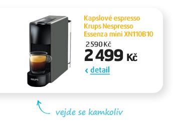 Kapslové espresso Krups Nespresso Essenza mini XN110B10