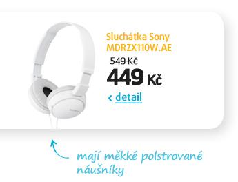 Sluchátka Sony MDRZX110P.AE