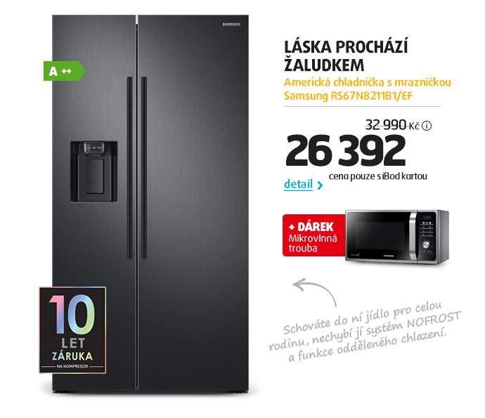 Americká chladnička s mrazničkou Samsung RS67N8211B1/EF