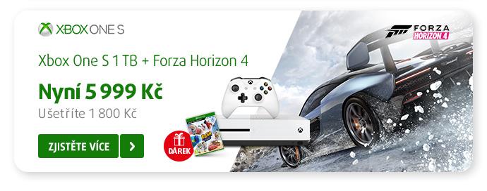 Xbox One S + hra Forza Horizon 4 za super cenu