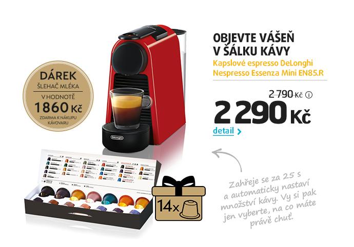 Kapslové espresso DeLonghi Nespresso Essenza Mini EN85.R
