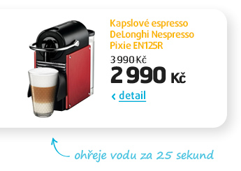 Kapslové espresso DeLonghi Nespresso Pixie EN125R