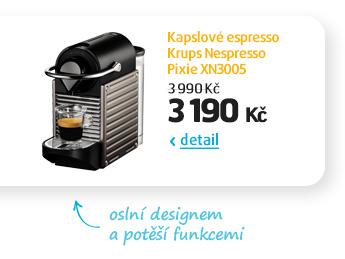 Kapslové espresso Krups Nespresso Pixie XN3005