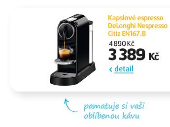 Kapslové espresso DeLonghi Nespresso Citiz EN167.B