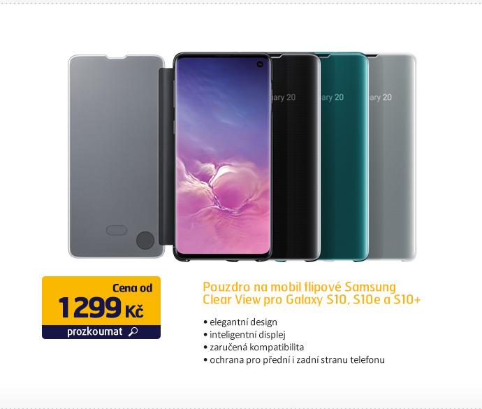 Pouzdro na mobil flipové Samsung Clear View pro Galaxy S10, S10e, S10+