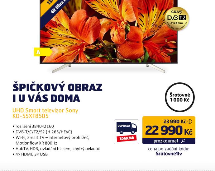 UHD Smart televizor Sony KD-55XF8505