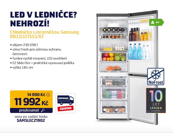 Chladnička s mrazničkou Samsung RB33J3215SS/EF