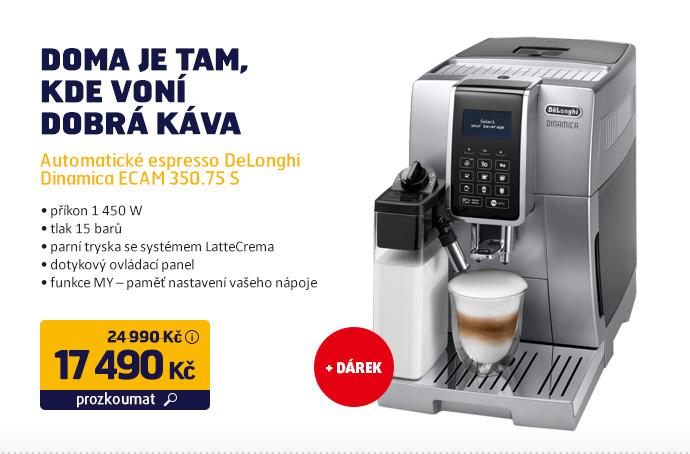 Automatické espresso DeLonghi Dinamica ECAM 350.75 S