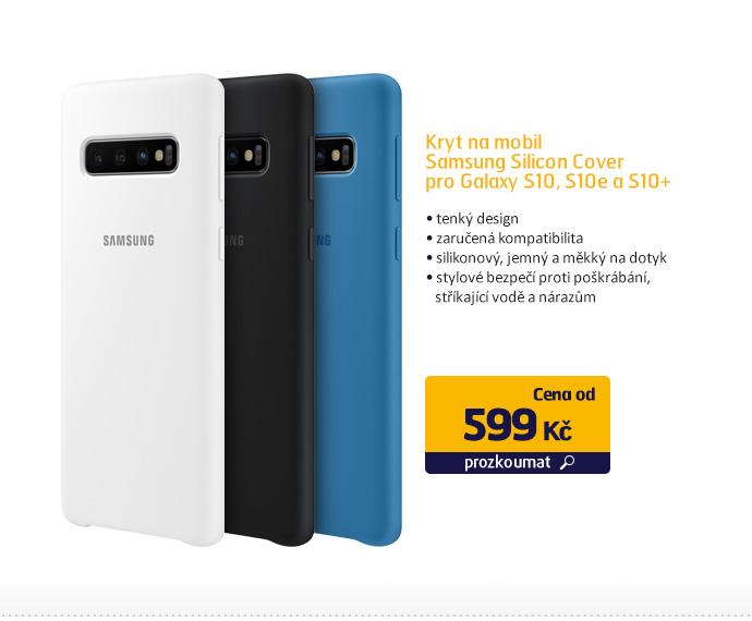 Kryt na mobil Samsung Silicon Cover pro Galaxy S10, S10e A S10+