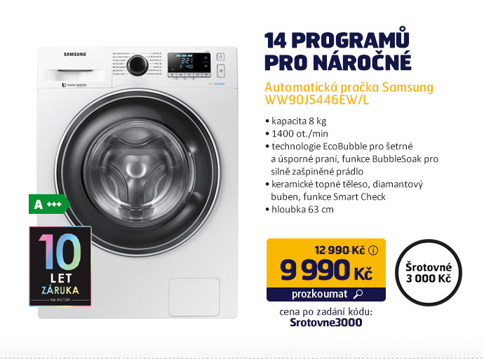 Automatická pračka Samsung WW90J5446EW/L