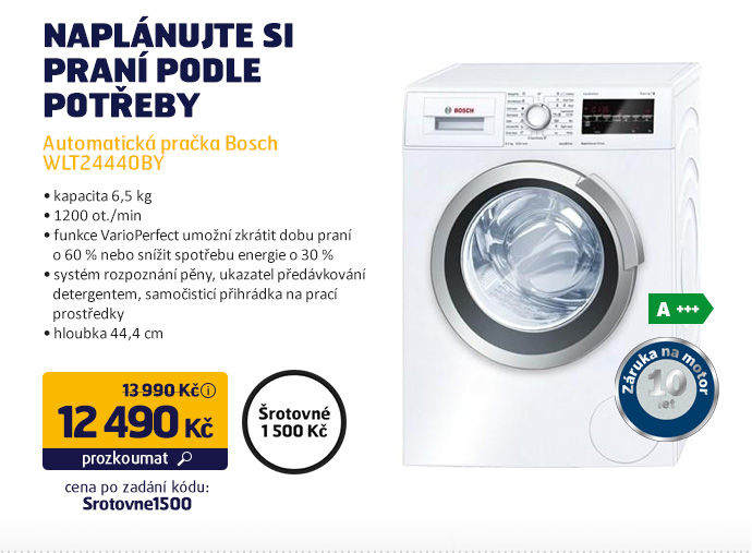 Automatická pračka Bosch WLT24440BY