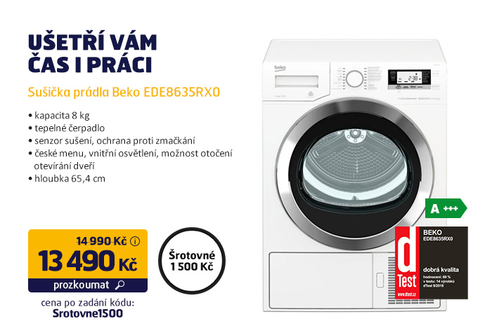 Sušička prádla Beko EDE8635RX0