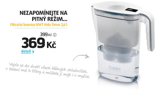 Filtrační konvice BWT Vida Timer 2,6 l