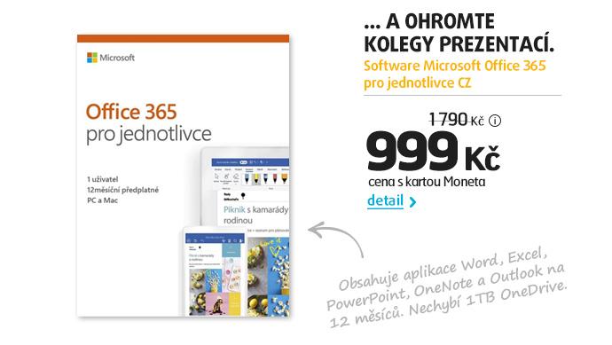 Software Microsoft Office 365 pro jednotlivce CZ
