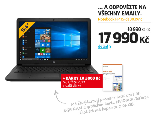 Notebook HP 15-da0039nc