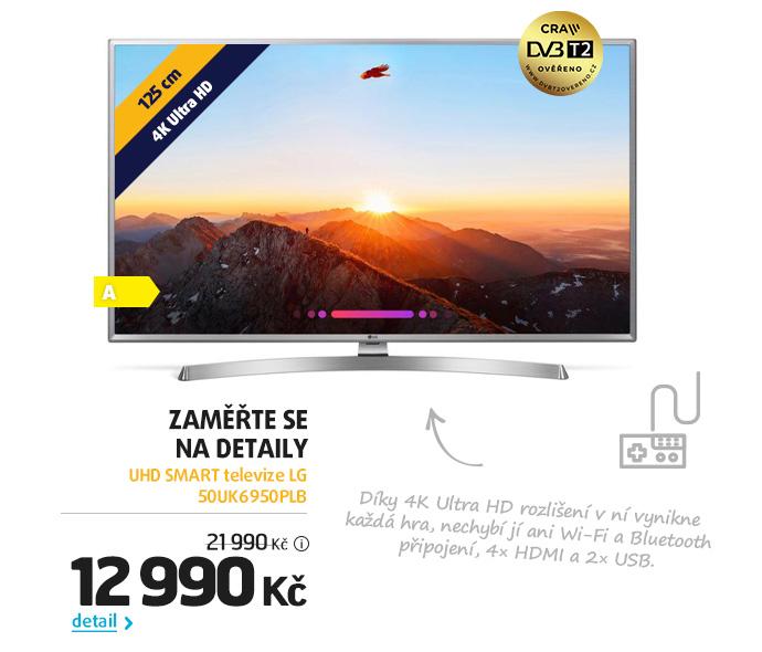 UHD SMART televize LG 50UK6950PLB