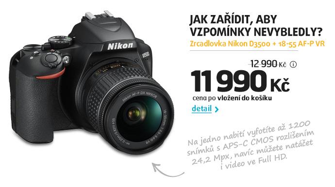 Zrcadlovka Nikon D3500 + 18-55 AF-P VR