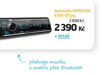 Autorádio KENWOOD KMM-BT305
