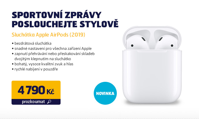 Sluchátka Apple AirPods (2019)