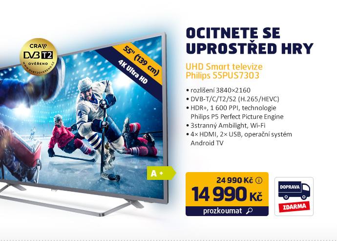 UHD Smart televize Philips 55PUS7303
