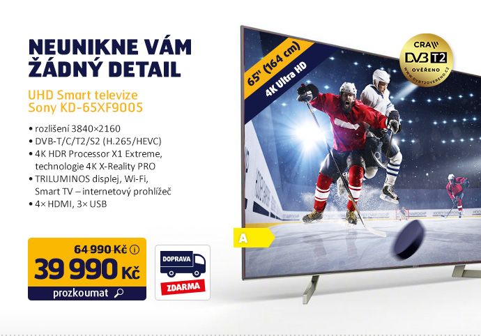 UHD Smart televize Sony KD-65XF9005