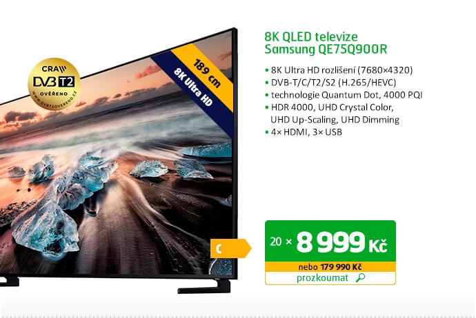 8K QLED televize Samsung QE75Q900R